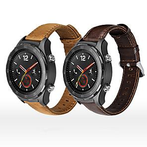 Χαμηλού Κόστους Smartwatch Bands-Παρακολουθήστε Band για Huawei Watch GT / Watch 2 Pro Huawei Αθλητικό Μπρασελέ Γνήσιο δέρμα Λουράκι Καρπού