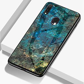 cheap Samsung Case-Marble Phone Case for Samsung Galaxy A70 A50 A30 A20 A10 Tempered Glass PC Agate Back Cover TPU Soft Edge Case for Samsung Galaxy A9 2018 A8 Plus 2018 A8 2018 A7 2018 A6 Plus 2018