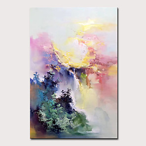 cheap Abstract Paintings-Mintura Large Size Hand Painted Abstract Landscape Oil Paintings On Canvas Modern Wall Art Picture For Home Decoration No Framed