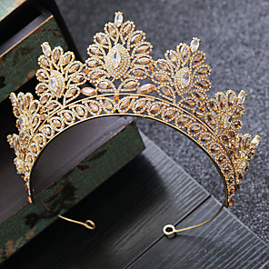 cheap Wedding Flowers-Alloy Tiaras with Crystal 1 Piece Wedding / Party / Evening Headpiece