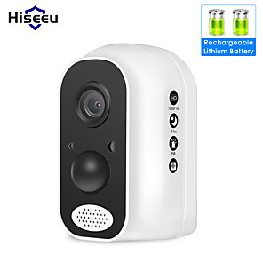 cheap Outdoor IP Network Cameras-Hiseeu® Wifi Battery Security IP Camera 1080P Rechargeable Powered HD Wireless Home Safety CCTV Surveillance Security Cam PIR Alarm Wifi IP66 Waterproof Remote Viewing Two Way Audio Motion Detection