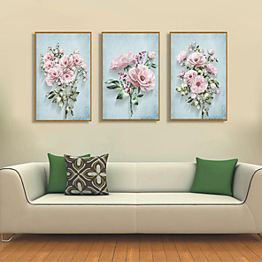 cheap Framed Arts-Framed Art Print Framed Set - Floral / Botanical PS Illustration Wall Art