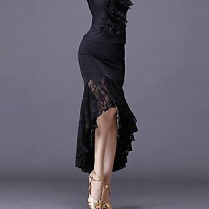 cheap Latin Dancewear-Latin Dance Skirts Lace Women's Training Performance Spandex