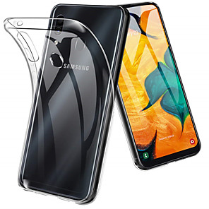 cheap Samsung Case-Case For Samsung Galaxy A6 (2018) / A6+ (2018) / Galaxy A7(2018) Shockproof / Ultra-thin / Transparent Back Cover Solid Colored Soft TPU