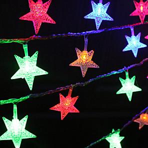 cheap LED String Lights-1 set 10 LEDs Stars String Lights for Christmas Tree Bedroom Decoration Battery Box Lights