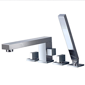cheap Bathtub Faucets-Bathtub Faucet - fixed Multi-Ply Other Ceramic Valve Bath Shower Mixer Taps