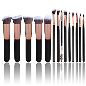 cheap Makeup Brush Sets-14pcs Makeup Brush Set Premium Synthetic Foundation Powder Brushes Concealers Eye Shadows Make Up Brushes Kit