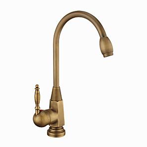 cheap Bathroom Sink Faucets-Bathroom Sink Faucet - Standard / Widespread Antique Copper Centerset Single Handle One HoleBath Taps