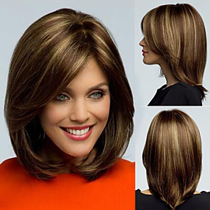 cheap Synthetic Trendy Wigs-Synthetic Wig Straight Tara Pixie Cut Wig Short Flaxen Synthetic Hair 12 inch Women's Adjustable Heat Resistant Easy dressing Dark Brown