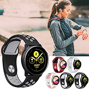 cheap Smartwatch Bands-Watch Band for Samsung Galaxy Watch 42 / Samsung Galaxy Active Samsung Galaxy Sport Band Silicone Wrist Strap