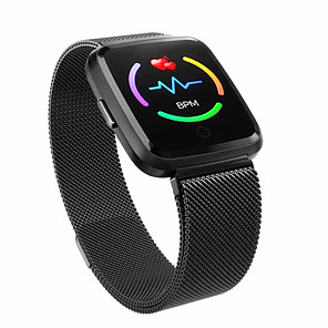 cheap Smartwatches-Y7 PLUS Smart Watch BT Fitness Tracker Support Notify & Heart Rate Monitor Steel Smartwatch for Android Mobiles & IPhone