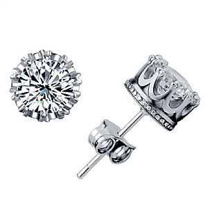 cheap Earrings-Women's Stud Earrings Classic Stylish Simple Silver Plated Earrings Jewelry Gold / Silver For Daily Work 1 Pair