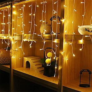 cheap LED String Lights-4m*0.6m Light Sets String Lights Outdoor String Lights 96 LEDs 1pc Warm White White Blue Waterproof Party Decorative 220-240 V 110-120 V
