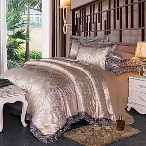 cheap High Quality Duvet Covers-Lace Jacquard Tencel Modal Satin jacquard sheets Wedding 4 piece bedding set