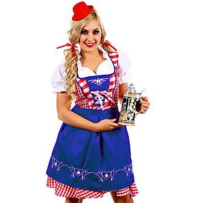 cheap LED Strip Lights-Oktoberfest Beer Dirndl Trachtenkleider Women's Dress Bavarian Costume Ocean Blue Jade Green