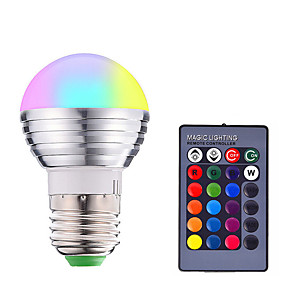 cheap LED Smart Bulbs-1pc 3 W LED Smart Bulbs 200-250 lm E14 E26 / E27 1 LED Beads SMD 5050 Smart Dimmable Remote-Controlled RGBW 85-265 V