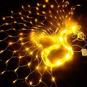 cheap LED String Lights-1.5m String Lights Outdoor String Lights 144 LEDs 1 set Warm White Decorative 220-240 V