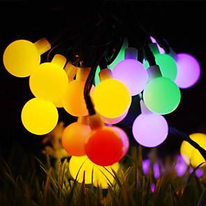 cheap LED String Lights-50m String Lights Outdoor String Lights 500 LEDs 1Set Mounting Bracket 1 set Warm White RGB White Waterproof Solar Creative Solar Powered