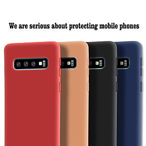 cheap Samsung Case-Case For Samsung Galaxy Galaxy S10 / Galaxy S10 Plus / Galaxy S10 E Frosted Back Cover Solid Colored Soft TPU