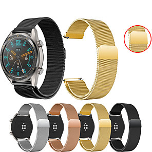 cheap Smartwatch Bands-Watch Band for Huawei Watch GT / Huawei Watch 2 Pro Huawei Sport Band / Milanese Loop Metal / Stainless Steel Wrist Strap