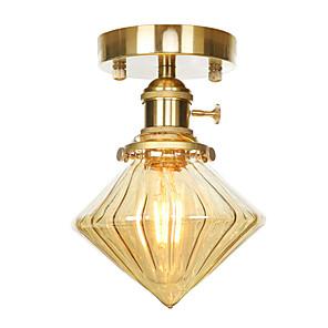 cheap Ceiling Lights-1-Light 13.5 cm Creative / Adjustable Flush Mount Lights Copper Glass Cone Electroplated Retro Vintage / Modern 110-120V / 220-240V / FCC / E26 / E27