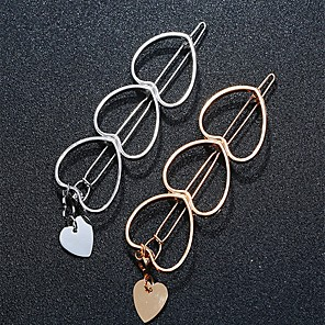 cheap Hair Jewelry-Women's Girls' Hair Jewelry For Heart Alloy Silver Golden 1pc