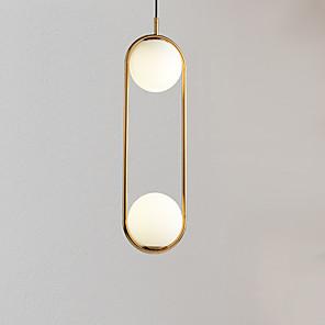 cheap Island Lights-2-Light 25 cm Adjustable Pendant Light Metal Glass Novelty Electroplated Globe 110-120V / 220-240V