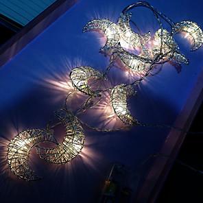cheap LED String Lights-3m Metal Moon LED Lights String Home Wedding Party Decor Warm White USB Power Creative Lights Strip Decor