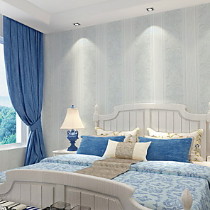 cheap Wall Stickers-Wallpaper Nonwoven Wall Covering - Adhesive required Solid Colored