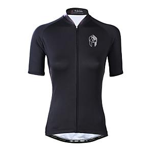 cheap Cycling Jerseys-ILPALADINO Women's Short Sleeve Cycling Jersey Elastane White Black Plus Size Bike Top Mountain Bike MTB Road Bike Cycling UV Resistant Breathable Quick Dry Sports Clothing Apparel / Moisture Wicking