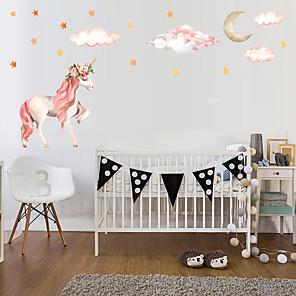 cheap Wall Stickers-1PC Unicorn Self-Adheres To The Wall To Decorate The Princess'S House  Wall Stickers