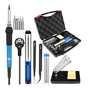cheap Novelties-Ten In One Electric Iron Set Repair Welding 60W Heat Adjustable Temperature Soldering Iron Soldering Iron Toolbox