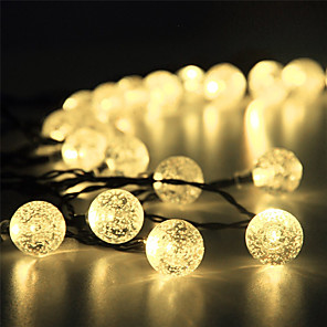 cheap LED Solar Lights-1 set LED Lantern Solar Light String Outdoor String Lights 15m 100 Light Bubble Ball Outdoor Waterproof Light Garden Decoration Light