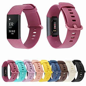 cheap Smartwatch Bands-Watch Band for Fitbit Charge 3 Fitbit Classic Buckle Silicone Wrist Strap