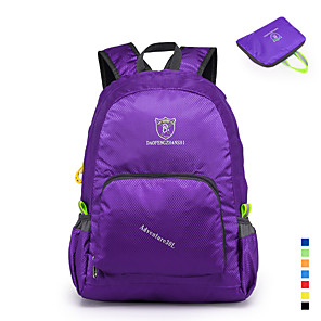 cheap Backpacks & Bags-Daofeng 20-35 L Lightweight Packable Backpack Breathable Rain Waterproof Fast Dry Foldable Outdoor Fishing Hiking Camping Polyester Black Purple Yellow / Compact