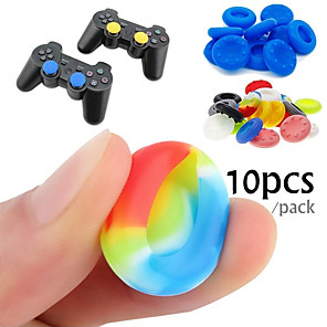 cheap Video Game Accessories-10 Rubber Silicone Game Controller Thumb Stick Grips for PS4 Ultra-thin Xbox One Xbox 360 Wii U Controller