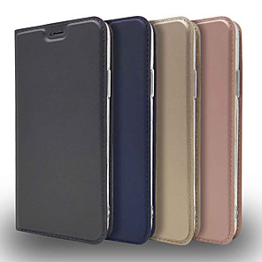 cheap iPhone Cases-Case For Apple iPhone XR/iPhone XS Max Ultra-thin / Flip / with Stand Full Body Cases Solid Colored Hard PU Leather for iPhone 5/SE/5s/iPhone 6S/7/8/iPhone 6S Plus/7 Plus/8 Plus/iPhone X/iPhone XS