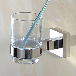 cheap Classical-Toothbrush Holder Premium Design / Creative Contemporary / Modern Stainless Steel 1pc - Bathroom Wall Mounted