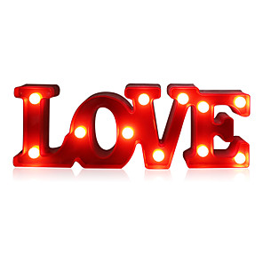 cheap Décor & Night Lights-Romantic Small White LOVE Marquee Sign Night Lights Staycation For Home Wedding Decoration Valentine Gift