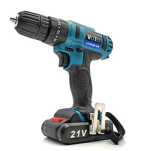 cheap Novelties-VOTO Rechargeable Hand Drill 21V Home Multi-Function Electric Screwdriver Impact Lithium Drill Micro Electric Screwdriver