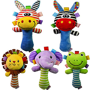 cheap Stuffed Animals-5 pcs Stuffed Animal Plush Toys Plush Dolls Stuffed Animal Plush Toy Elephant Creative Animals Cute Stripes / Ripples Other Imaginative Play, Stocking, Great Birthday Gifts Party Favor Supplies