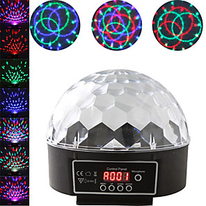 cheap LED Cabinet Lights-1 set LED Stage Light DMX512 Control Sound Control Colorful Magic Ball Rotating Light Bar DJ Light