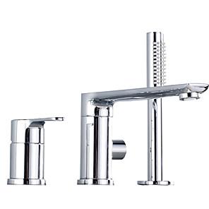 cheap Bathtub Faucets-Shower Faucet Chrome Other Ceramic Valve Bath Shower Mixer Taps