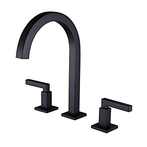 cheap Bathroom Accessory Set-Bathroom Sink Faucet - Widespread Chrome Other Two Handles Three HolesBath Taps