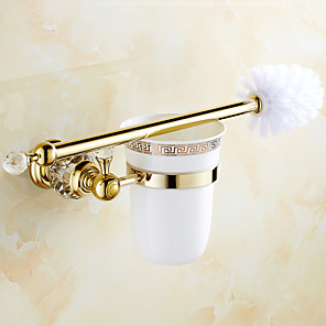 cheap Bathroom Sink Faucets-Toilet Brush Holder Creative Brass 1pc - Bathroom Wall Mounted