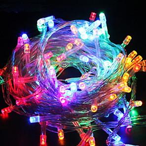 cheap LED String Lights-10m String Lights 100 LEDs 1 set Multi Color Decorative 220-240 V