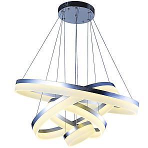 povoljno Dizajn kruga-VALLKIN 4-Light 80 cm Kreativan / Prilagodljiv / Zatamnjen Privjesak Svjetla Metal Acrylic Cirkularno / Geometrijski / Noviteti Slikano završi LED / Moderna 110-120V / 220-240V