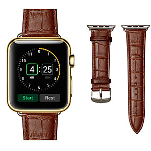 cheap Smartwatch Bands-Watch Band for Apple Watch Series 4/3/2/1 Apple Sport Band Genuine Leather Wrist Strap