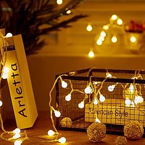 cheap LED String Lights-1m String Lights 10 LEDs 1 set Warm White 220-240 V