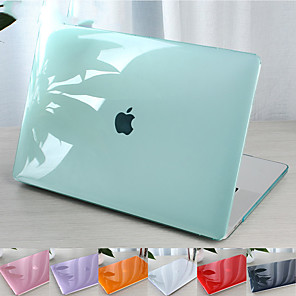 cheap Mac Accessories-For MacBook Pro Air 11-15 Computer Case 2018 2017 2016 Released A1989 / A1706 / A1708 With Touch Strip PVC Pattern Hard Shell Translucent Crystal Case